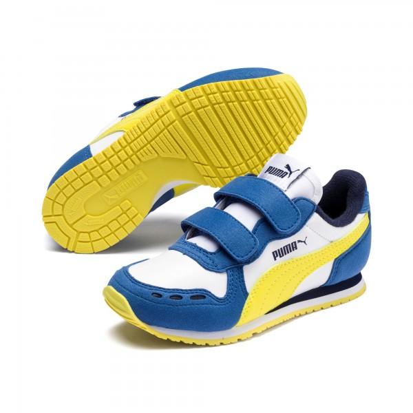 Puma Cabana Racer SL V PS Kinder Sneaker 360732 (Weiß/Blau 80)