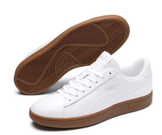 Puma Smash v2 L Herren Sneaker 365215 (white-gum 13)