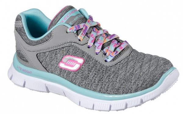 Skechers Skech Appeal - Eye Catcher Kinder Sneaker 81844L (Grau/Blau- GYAQ)