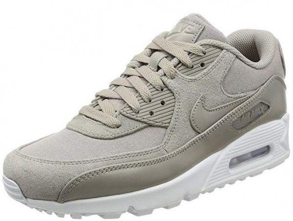 4220f323327c61 Nike Air Max 90 Premium (Grau) Günstige Herren Sneaker