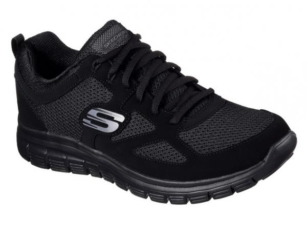 Skechers Burns - Agoura Herren Sneaker 52635 (Schwarz-BBK)