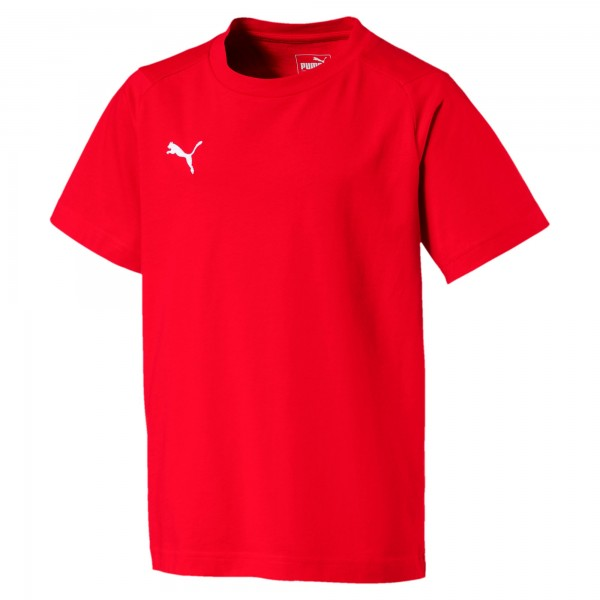 Puma LIGA Casuals Tee Jr Kinder T-Shirt 655634 (Rot 01)