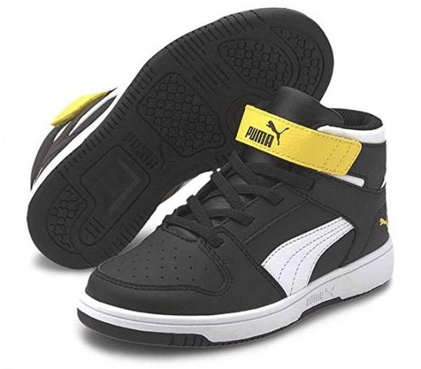 Puma Rebound LayUp SL V PS Kinder Sneaker 370488 (Schwarz 12)