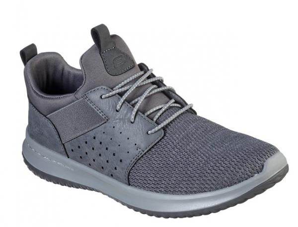 Skechers Delson-Camden Herren Sneaker 65474 (Grau-GRY)