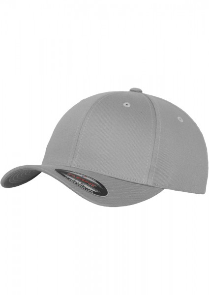Flexfit Wooly Combed Baseball Cap (Silver 00473)
