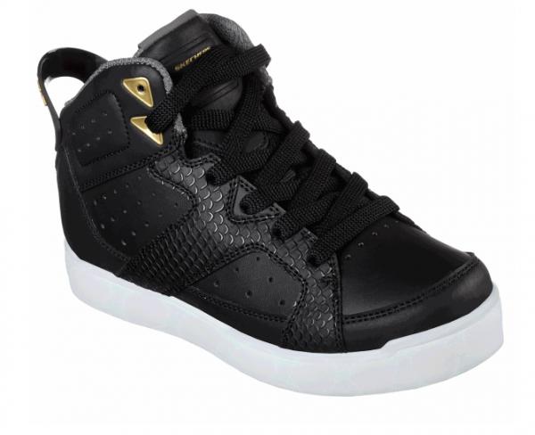 Skechers S Lights: Energy Lights E-Pro - Street Quest Kinder Sneaker  (Schwarz-BLK)