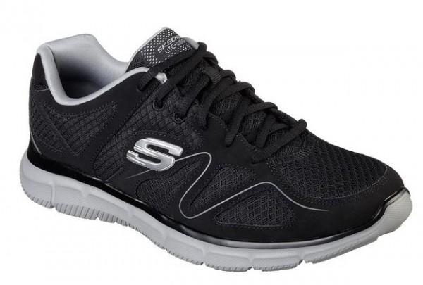 Skechers Satisfaction - Flash Point Herren Sneaker(Schwarz-BKGY)