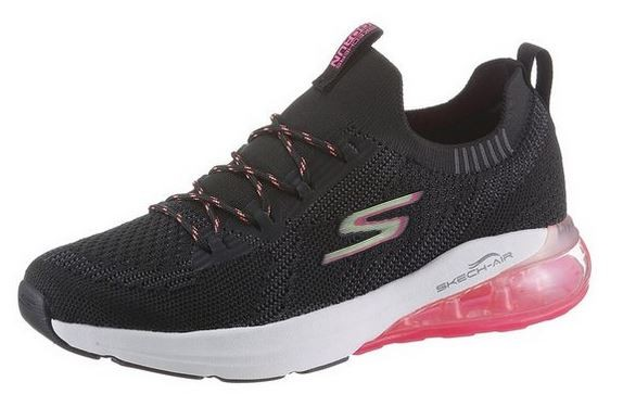 Skechers GoRun Air - Stratus Damen Sneaker 16071 (Schwarz-BKMT)