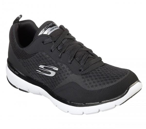 Skechers Flex Appeal 3.0 - Go Forward Damen Sneaker 13069 (Schwarz-BKW)