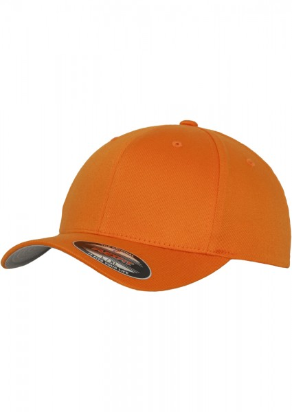 Flexfit Wooly Combed Baseball Cap (Orange-00180)