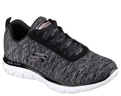 Skechers Flex Appeal 2.0 Damen Sneaker 12753 (Schwarz-BKRG)