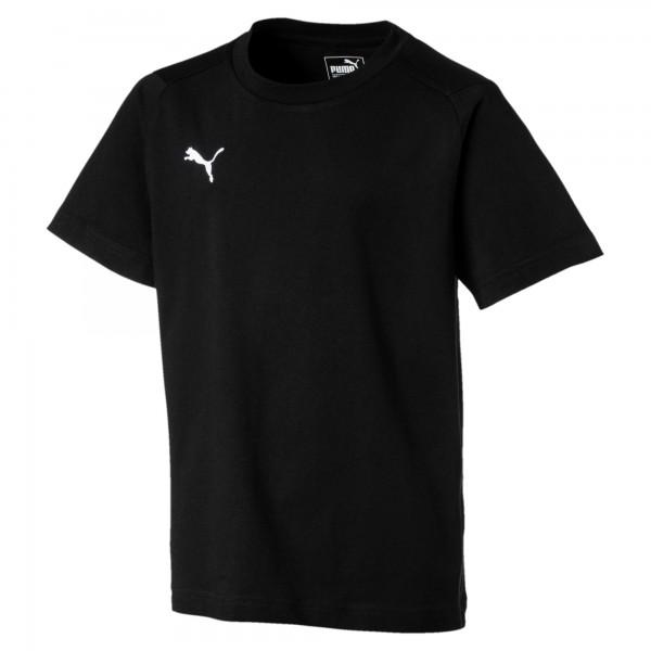 Puma LIGA Casuals Tee Jr Kinder T-Shirt 655634 (Schwarz 03)