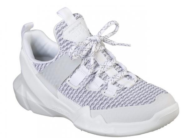 Skechers D'Lites - DLT-A Damen Sneaker 12940 (Weiß/Grau-WGRY)
