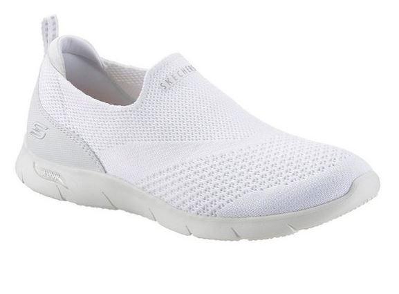 Skechers Arch Fit Refine - Don't Go Damen Sneaker 104164 (Weiß-WHT)