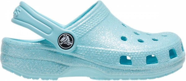 Crocs Classic Glitter Clog Kinder (Ice Blue)