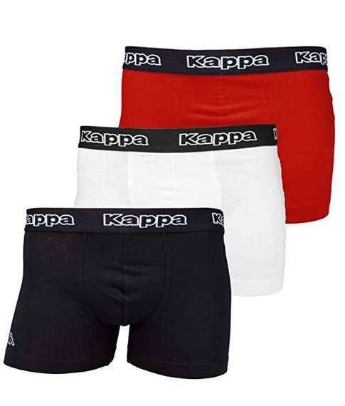 Kappa Tsuna Herren Boxershorts 6er Pack (Weiß/Rot/Schwarz)