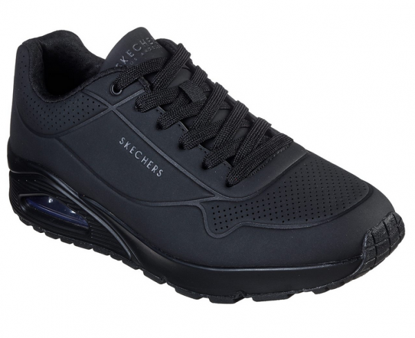 Skechers UNO - Stand On Air Herren Sneaker 52458 (Schwarz-BBK)