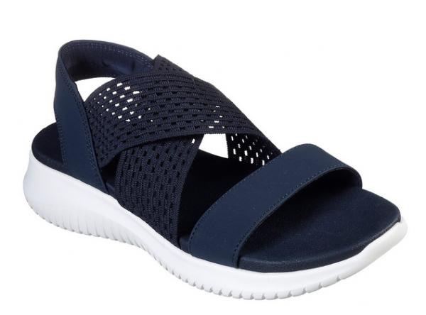 Skechers Ultra Flex - Neon Star Damen Sandale 32495 (Blau-NVY)