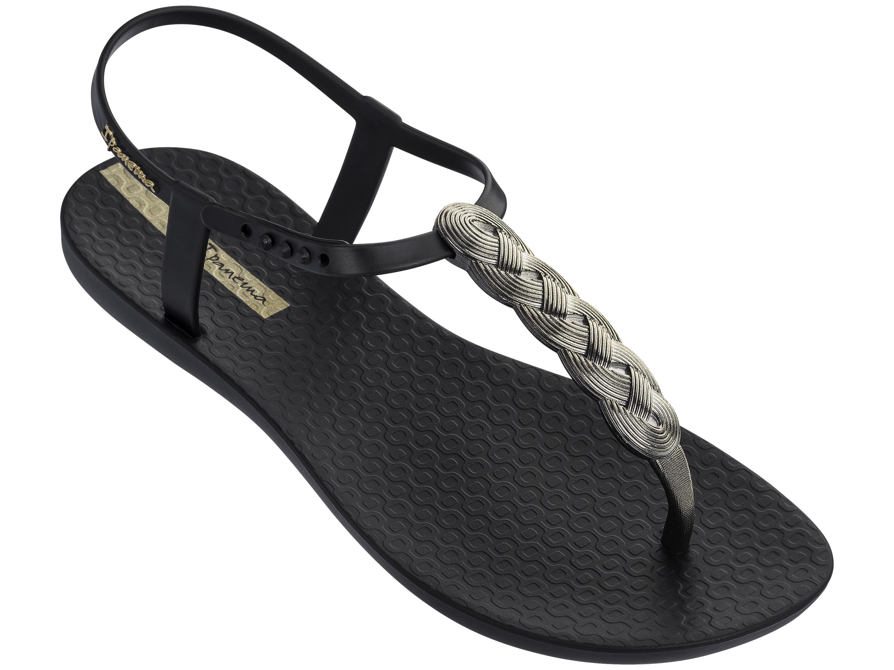Ipanema Charm VI Sand Fem Damen Schuhe Sandale Zehentrenner 82517 Schwarz 9139