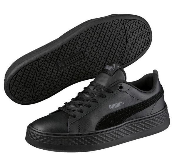 Puma Smash Platform L Damen Sneaker 366487 (black 01)