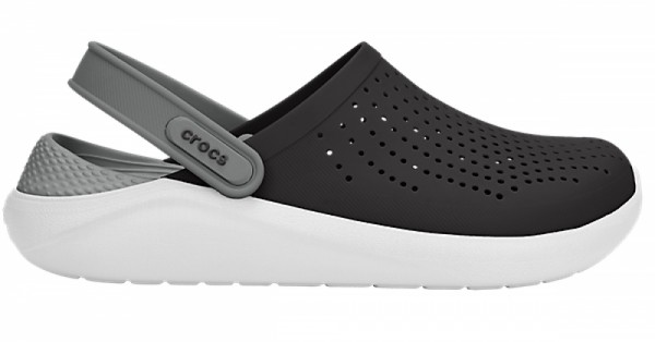 Crocs LiteRide Clog (Black/Smoke)