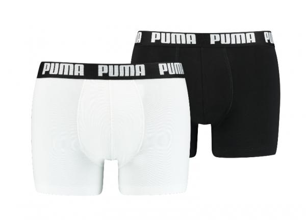 Puma 2er Pack Basic Boxer Herren Boxershorts 521015001 (Weiß/Schwarz 301)