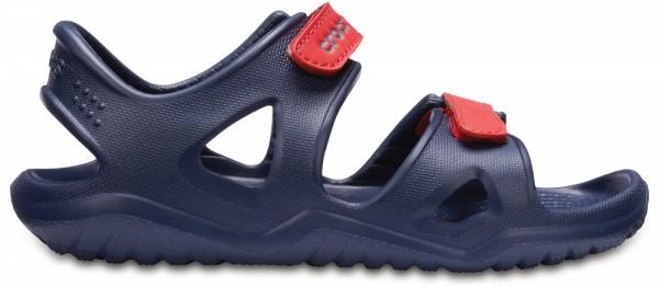 Crocs Swiftwater River Sandal Kinder Sandale (Navy/Flame)