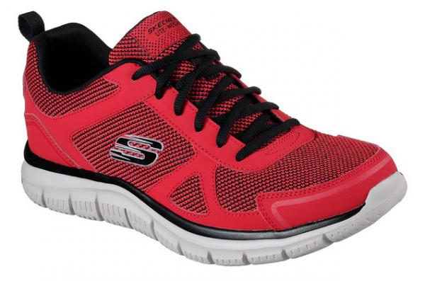 Skechers Track - Bucolo Herren Sneaker 52630 (Rot-RDBK)