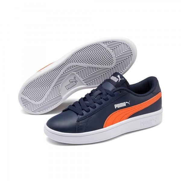 Puma Smash v2 L Jr Kinder Sneaker 365170 (Blau 17)