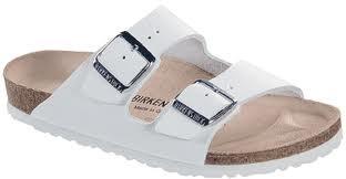 Birkenstock ARIZONA Birko-Flor Pantolette schmal (weiß)