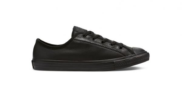 Converse Chuck Taylor All Star Dainty Ox Leder Damen Sneaker 564986C (Schwarz)