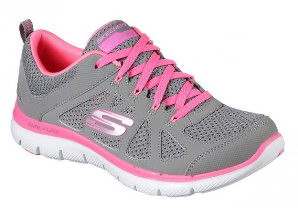 Skechers Flex Appeal 2.0 Simplistic Damen Sneaker 12761 (Grau/Pink - GYHP)