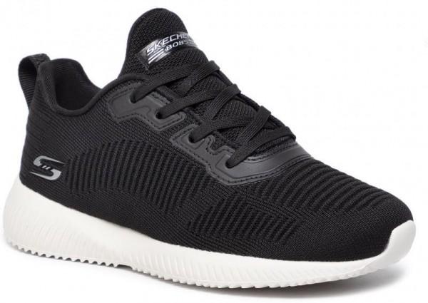 Skechers Bobs Sport Squad - Tough Talk Damen Sneaker 32504(Schwarz BLK)