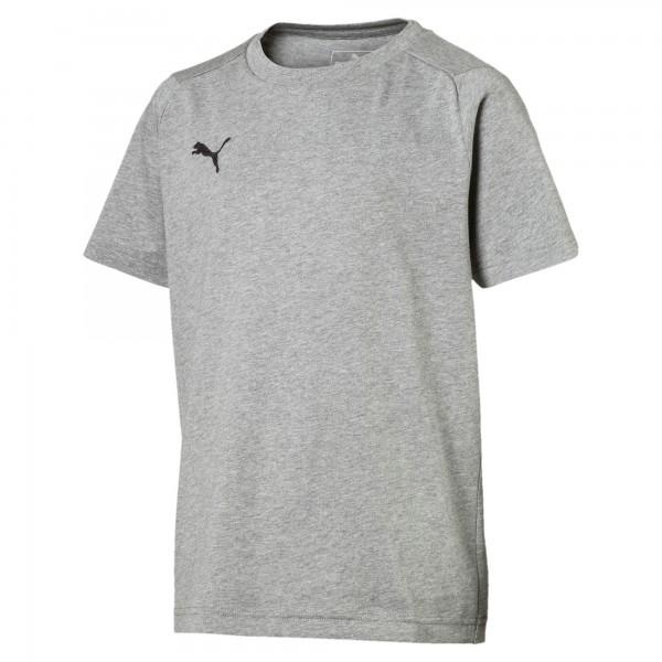 Puma LIGA Casuals Tee Jr Kinder T-Shirt 655634 (Grau 33)