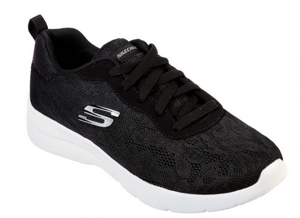 Skechers Dynamight 2.0 - Homespun Damen Sneaker 12963 (Schwarz-BKW)
