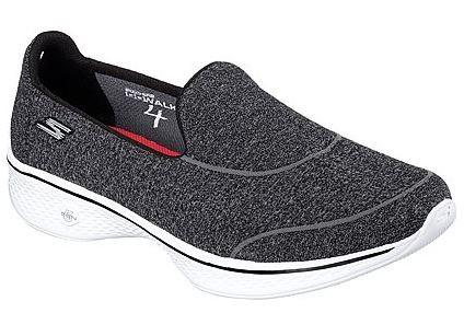 Skechers Gowalk4 - Super Sock 4 Damen Sneaker 14161(Schwarz-BKW)