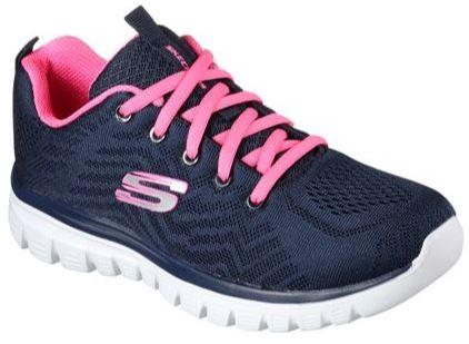 Skechers Graceful - Get connected Damen Sneaker 12615 (Blau-NVHP)
