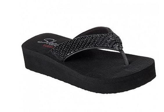 Skechers Cali Vinyasa Damen Sandale 31600(Schwarz-BBK)