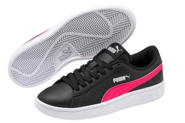 Puma Smash v2 L Jr Kinder Sneaker 365170 (Schwarz 19)
