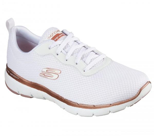 Skechers Flex Appeal 3.0 - First Insight Damen Sneaker 13070 (Weiß-WTRG)