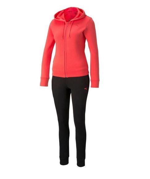 Puma Classic Hooded Sweat Suit FL Damen Trainingsanzug 589132 (Rosa 35)