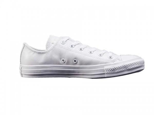 Converse Chucks Taylor All Star Low Leder Sneaker 136823C (weiß mono)