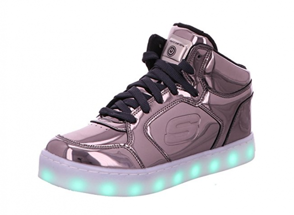 Skechers S Lights: Energy Lights Eliptic Kinder Sneaker 90603L (Grau-GUN)