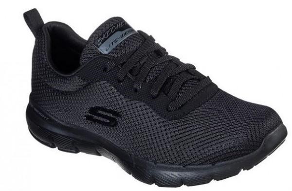 Skechers Flex Appeal 3.0 – First Insight Damen Sneaker 13070 (Schwarz-BBK)