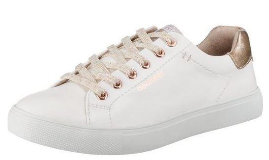 Dockers Damen Sneaker 44MA201-610 (Weiß/Rose 593)