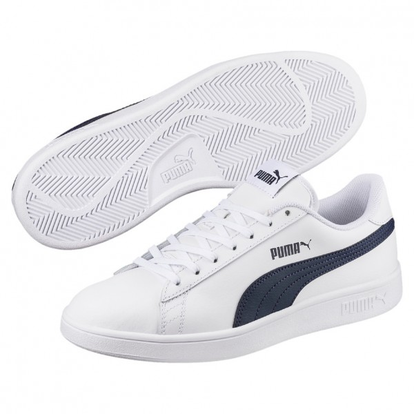 Puma Smash v2 L (white-peacoat 02)