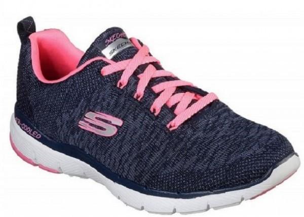 Skechers Flex Appeal 3.0 Damen Sneaker 13062(Blau/Pink-NVHP)