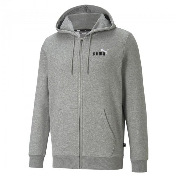 Puma Ess + Embroidery FZ Herren Sweatjacke 587185 (Grau 03)