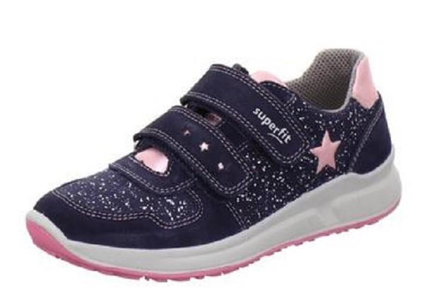 Superfit Merida Halbschuhe Mädchen Sneaker (Blau/Rosa)