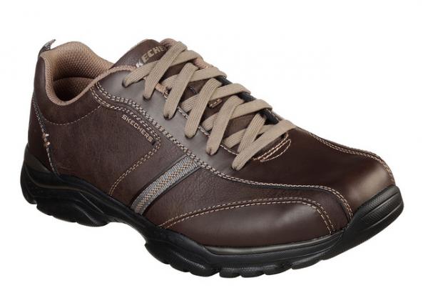 Skechers Relaxed Fit: Rovato - Larion Herren Sneaker 65419 (Braun-BRN)
